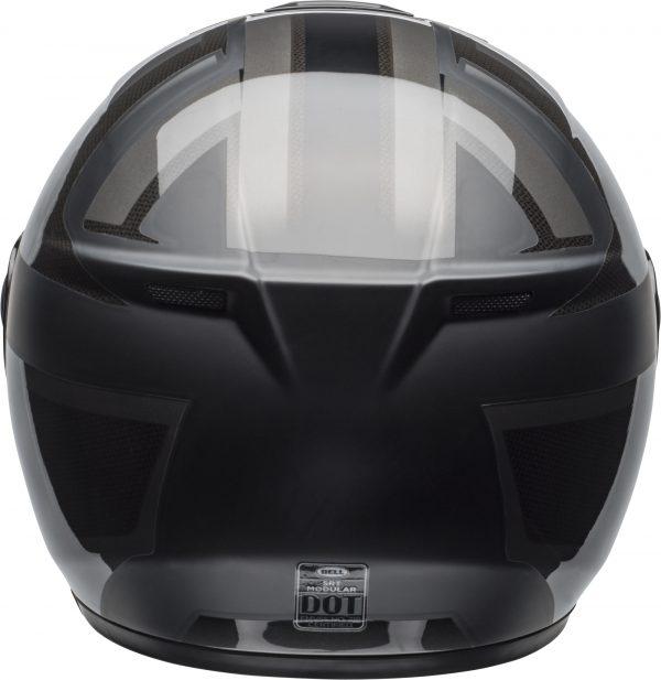 bell-srt-modular-street-helmet-predator-matte-gloss-blackout-back-BELL SRT MODULAR PREDATOR MATT/GLOSS BLACK OUT