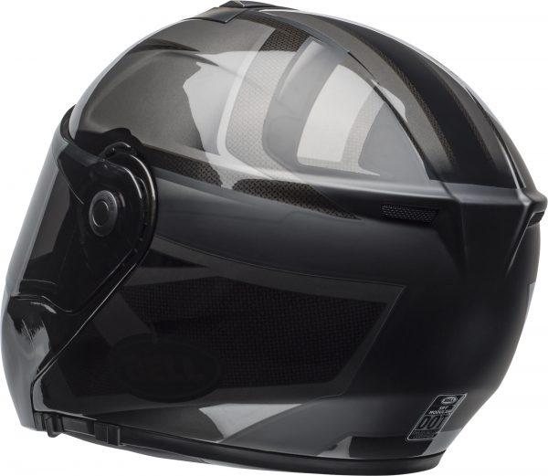 bell-srt-modular-street-helmet-predator-matte-gloss-blackout-back-left-BELL SRT MODULAR PREDATOR MATT/GLOSS BLACK OUT