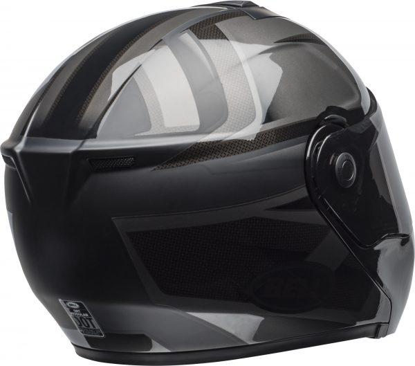 bell-srt-modular-street-helmet-predator-matte-gloss-blackout-back-right-BELL SRT MODULAR PREDATOR MATT/GLOSS BLACK OUT