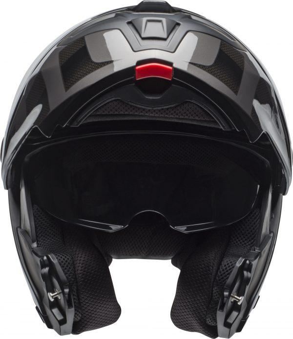 bell-srt-modular-street-helmet-predator-matte-gloss-blackout-front-1-BELL SRT MODULAR PREDATOR MATT/GLOSS BLACK OUT