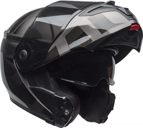 bell-srt-modular-street-helmet-predator-matte-gloss-blackout-front-right-1-BELL SRT MODULAR PREDATOR MATT/GLOSS BLACK OUT