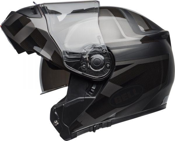 bell-srt-modular-street-helmet-predator-matte-gloss-blackout-left-1-BELL SRT MODULAR PREDATOR MATT/GLOSS BLACK OUT