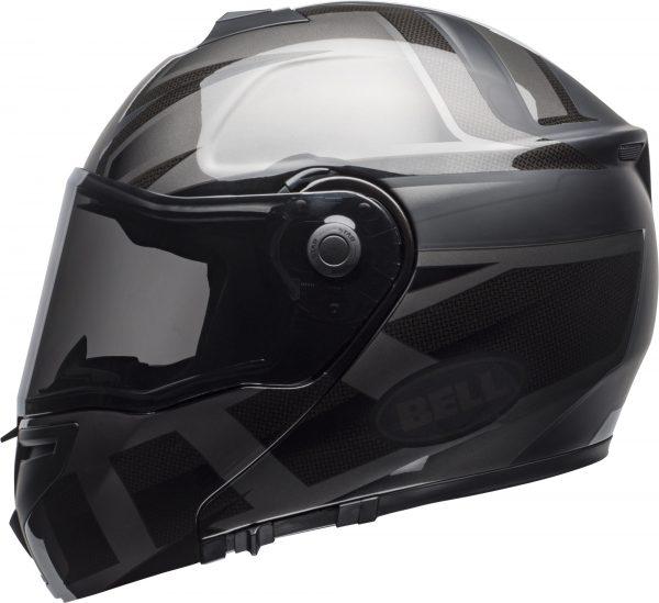bell-srt-modular-street-helmet-predator-matte-gloss-blackout-left-BELL SRT MODULAR PREDATOR MATT/GLOSS BLACK OUT