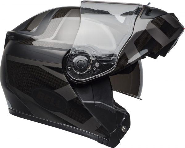 bell-srt-modular-street-helmet-predator-matte-gloss-blackout-right-1-BELL SRT MODULAR PREDATOR MATT/GLOSS BLACK OUT