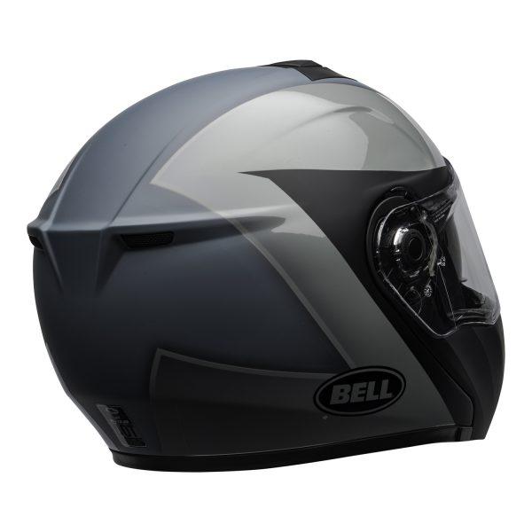 bell-srt-modular-street-helmet-presence-matte-gloss-black-gray-clear-shield-back-right-BELL SRT MODULAR TRANSMIT GLOSS HI VIZ