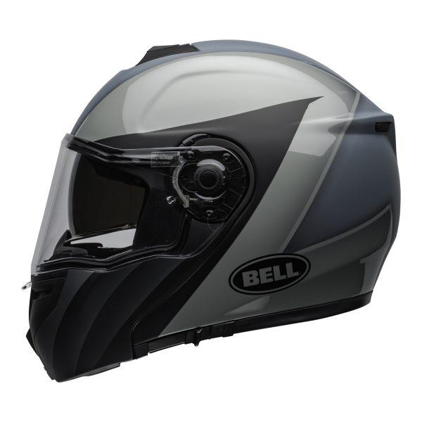 bell-srt-modular-street-helmet-presence-matte-gloss-black-gray-clear-shield-left-BELL SRT MODULAR TRANSMIT GLOSS HI VIZ