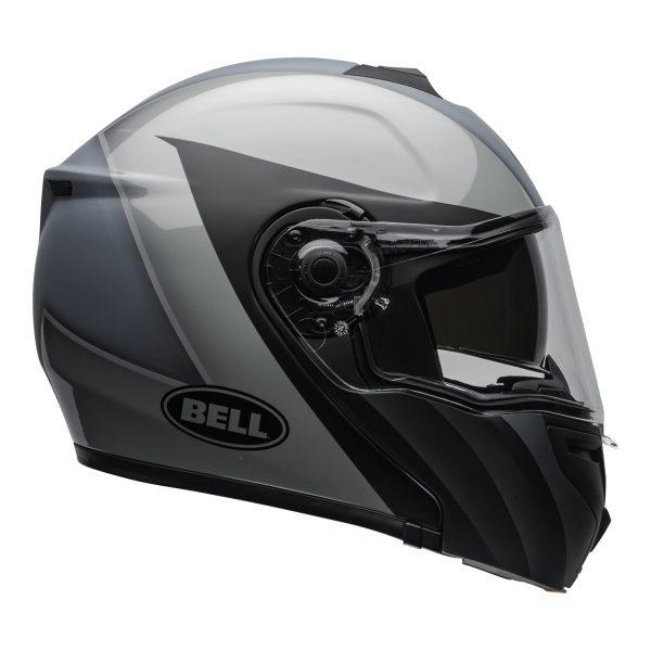 bell-srt-modular-street-helmet-presence-matte-gloss-black-gray-clear-shield-right-BELL SRT MODULAR TRANSMIT GLOSS HI VIZ