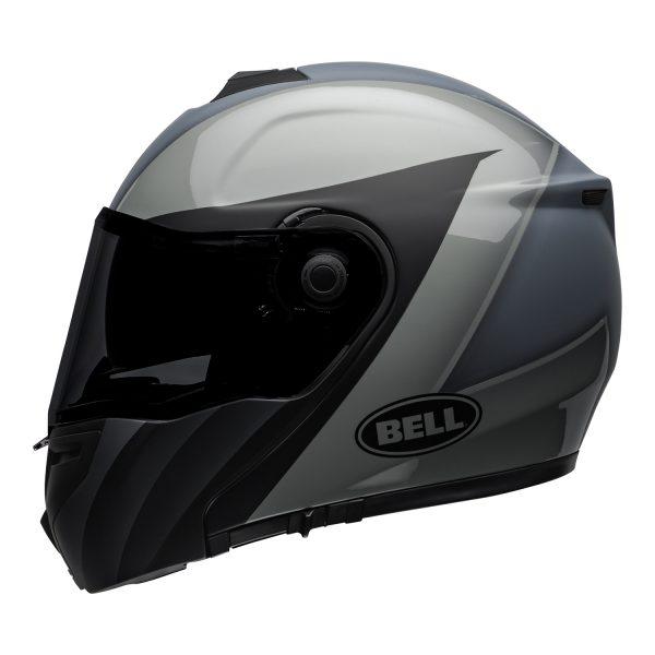 bell-srt-modular-street-helmet-presence-matte-gloss-black-gray-left.jpg-BELL SRT MODULAR PRESENCE MATT/GLOSS GREY