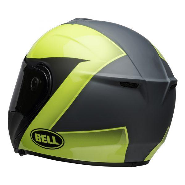 bell-srt-modular-street-helmet-presence-matte-gloss-gray-hi-viz-yellow-back-left-BELL SRT MODULAR TRANSMIT GLOSS HI VIZ