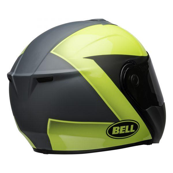 bell-srt-modular-street-helmet-presence-matte-gloss-gray-hi-viz-yellow-back-right-BELL SRT MODULAR TRANSMIT GLOSS HI VIZ
