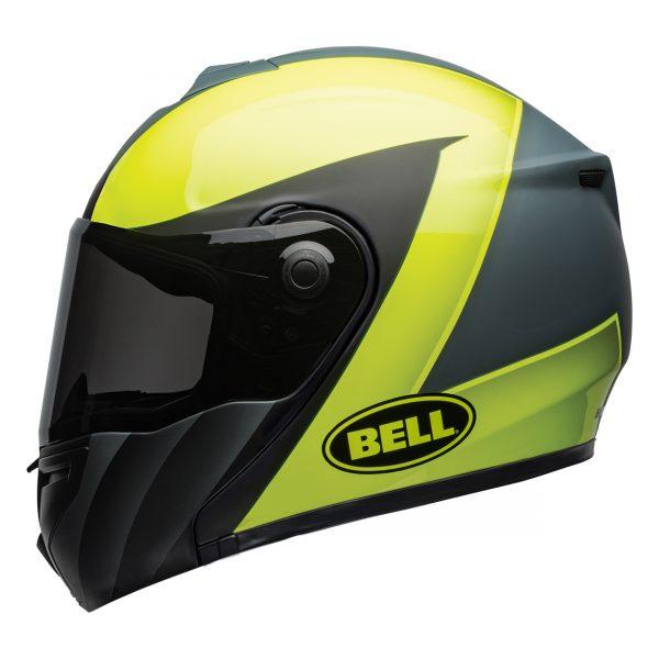 bell-srt-modular-street-helmet-presence-matte-gloss-gray-hi-viz-yellow-left-BELL SRT MODULAR TRANSMIT GLOSS HI VIZ