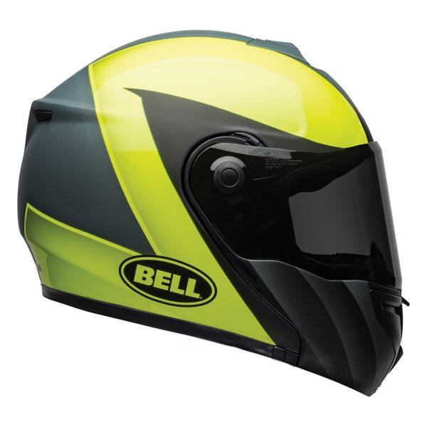 bell-srt-modular-street-helmet-presence-matte-gloss-gray-hi-viz-yellow-right-BELL SRT MODULAR TRANSMIT GLOSS HI VIZ