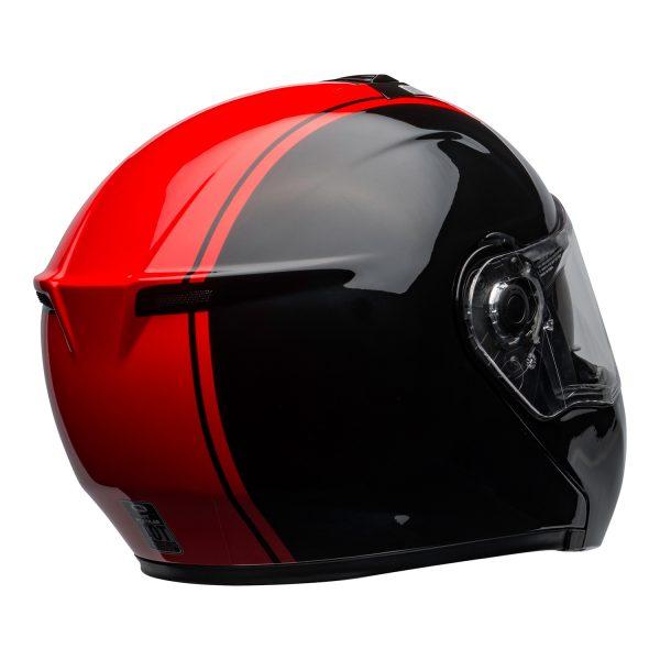 bell-srt-modular-street-helmet-ribbon-gloss-black-red-clear-shield-back-right-BELL SRT MODULAR TRANSMIT GLOSS HI VIZ