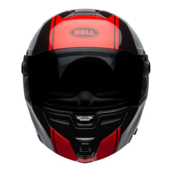 bell-srt-modular-street-helmet-ribbon-gloss-black-red-front.jpg-BELL SRT MODULAR RIBBON GLOSS BLACK RED