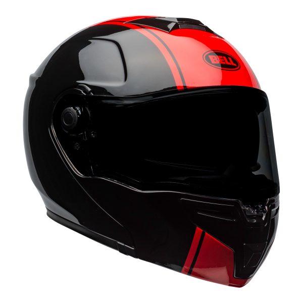 bell-srt-modular-street-helmet-ribbon-gloss-black-red-front-right.jpg-BELL SRT MODULAR RIBBON GLOSS BLACK RED