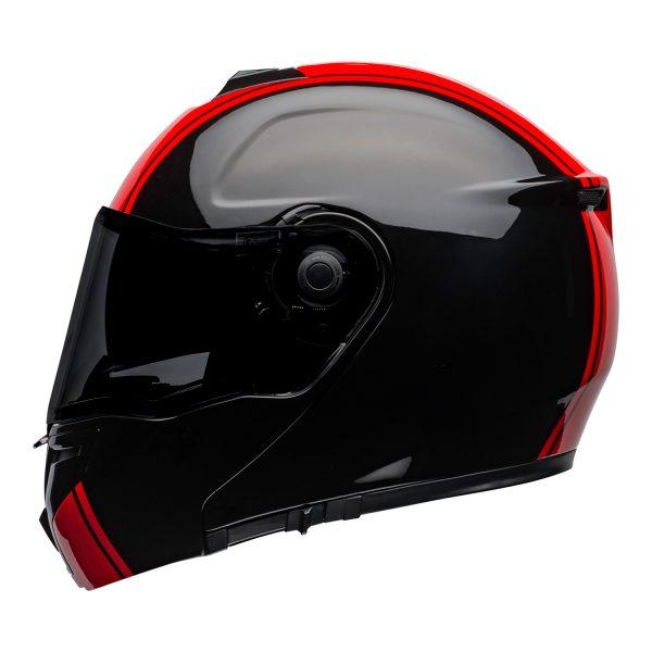 bell-srt-modular-street-helmet-ribbon-gloss-black-red-left-BELL SRT MODULAR TRANSMIT GLOSS HI VIZ