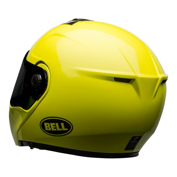 bell-srt-modular-street-helmet-transmit-gloss-hi-viz-back-left-BELL SRT MODULAR TRANSMIT GLOSS HI VIZ