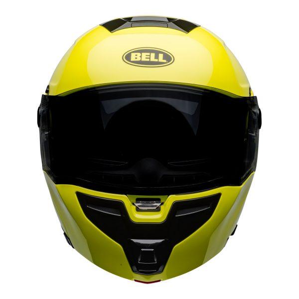 bell-srt-modular-street-helmet-transmit-gloss-hi-viz-front.jpg-BELL SRT MODULAR TRANSMIT GLOSS HI VIZ