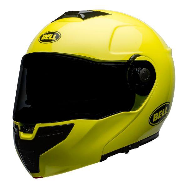 bell-srt-modular-street-helmet-transmit-gloss-hi-viz-front-left.jpg-BELL SRT MODULAR TRANSMIT GLOSS HI VIZ