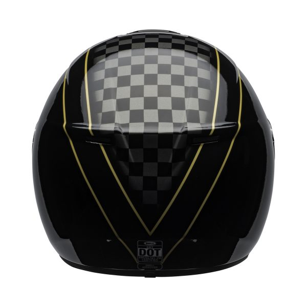 bell-srt-street-helmet-buster-gloss-black-yellow-gray-back-BELL SRT GLOSS BLACK