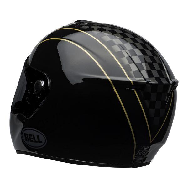 bell-srt-street-helmet-buster-gloss-black-yellow-gray-back-left-BELL SRT GLOSS BLACK