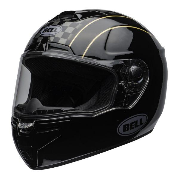 bell-srt-street-helmet-buster-gloss-black-yellow-gray-clear-shield-front-left-BELL SRT GLOSS BLACK