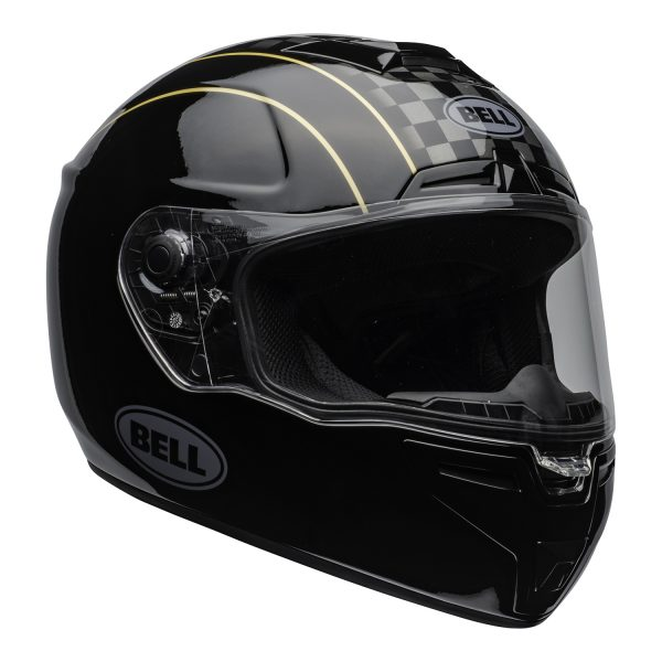 bell-srt-street-helmet-buster-gloss-black-yellow-gray-clear-shield-front-right-BELL SRT GLOSS BLACK