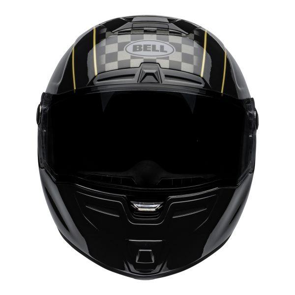 bell-srt-street-helmet-buster-gloss-black-yellow-gray-front-BELL SRT GLOSS BLACK