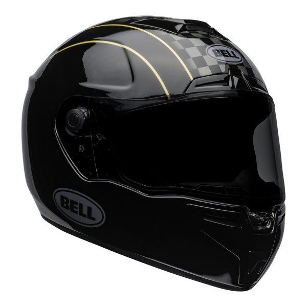 bell-srt-street-helmet-buster-gloss-black-yellow-gray-front-right-BELL SRT GLOSS BLACK