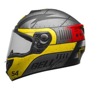 BELL SRT DEVIL MAY CARE MATT GREY YELLOW