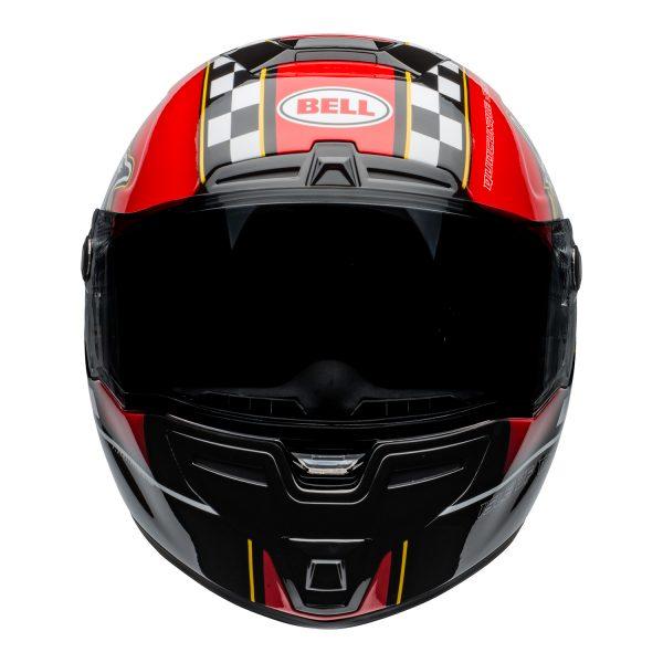 bell-srt-street-helmet-isle-of-man-2020-gloss-black-red-front-BELL SRT GLOSS BLACK