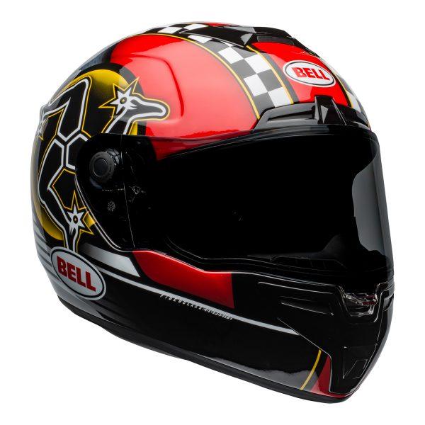 bell-srt-street-helmet-isle-of-man-2020-gloss-black-red-front-right-BELL SRT GLOSS BLACK
