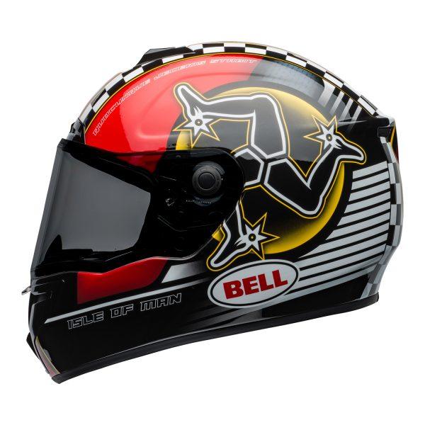 bell-srt-street-helmet-isle-of-man-2020-gloss-black-red-left-BELL SRT GLOSS BLACK