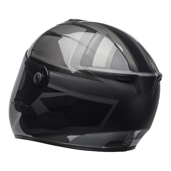 bell-srt-street-helmet-predator-matte-gloss-blackout-back-left-BELL SRT GLOSS BLACK