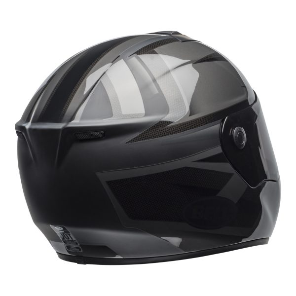 bell-srt-street-helmet-predator-matte-gloss-blackout-back-right-BELL SRT GLOSS BLACK