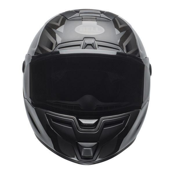 bell-srt-street-helmet-predator-matte-gloss-blackout-front-BELL SRT GLOSS BLACK