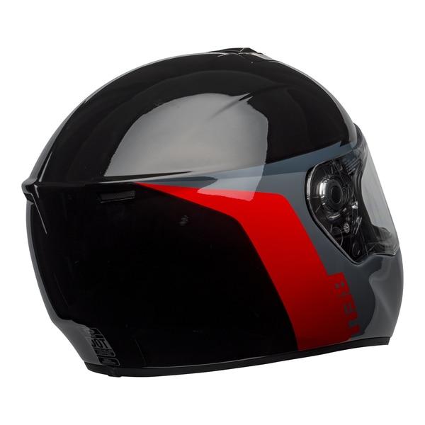 bell-srt-street-helmet-razor-gloss-black-gray-red-back-right-clear-shield__32596.1601548015.jpg-BELL SRT RAZOR GLOSS BLACK GREY RED