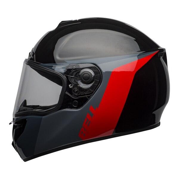 bell-srt-street-helmet-razor-gloss-black-gray-red-left-clear-shield__67822.1601548015.jpg-BELL SRT RAZOR GLOSS BLACK GREY RED