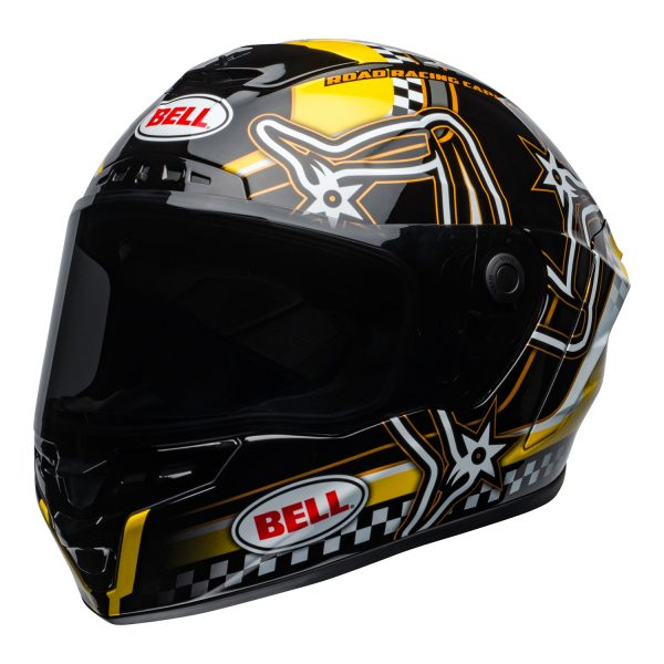 bell-star-dlx-mips-ece-street-helmet-isle-of-man-gloss-black-yellow-front-left.jpg-Bell Street 2021 Star DLX MIPS Adult Helmet Helmet (IOM Black/Yellow)