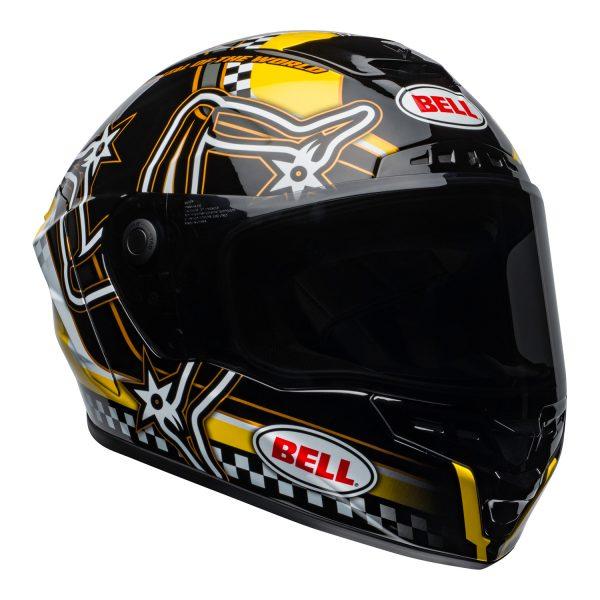 bell-star-dlx-mips-ece-street-helmet-isle-of-man-gloss-black-yellow-front-right.jpg-Bell Street 2021 Star DLX MIPS Adult Helmet Helmet (IOM Black/Yellow)