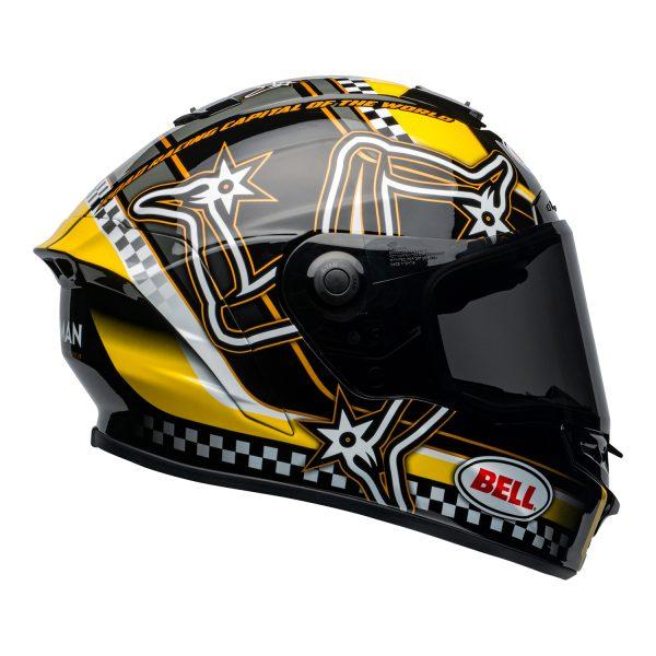 bell-star-dlx-mips-ece-street-helmet-isle-of-man-gloss-black-yellow-right.jpg-Bell Street 2021 Star DLX MIPS Adult Helmet Helmet (IOM Black/Yellow)