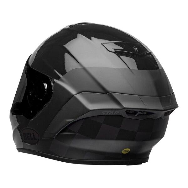 bell-star-dlx-mips-ece-street-helmet-lux-checkers-matte-gloss-black-root-beer-back-left__17666.1603185523.jpg-Bell Street 2021 Star DLX MIPS Adult Helmet Helmet (Lux Checkers M/G Black/Rootbeer)