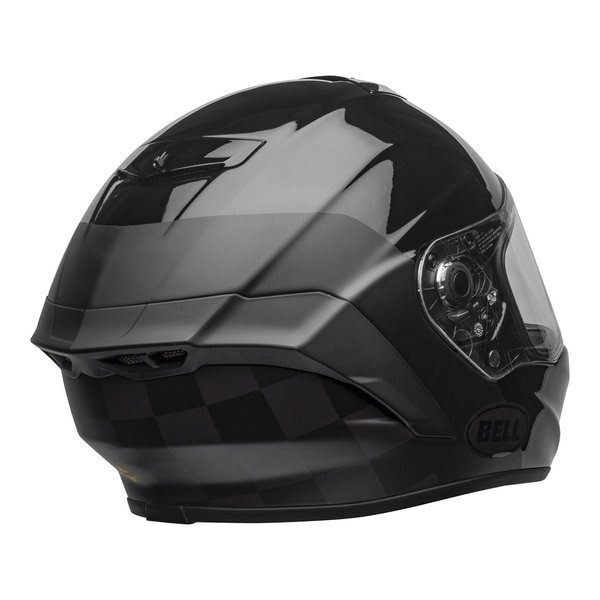 bell-star-dlx-mips-ece-street-helmet-lux-checkers-matte-gloss-black-root-beer-back-right-clear-shield__94164.1603185523.jpg-Bell Street 2021 Star DLX MIPS Adult Helmet Helmet (Lux Checkers M/G Black/Rootbeer)