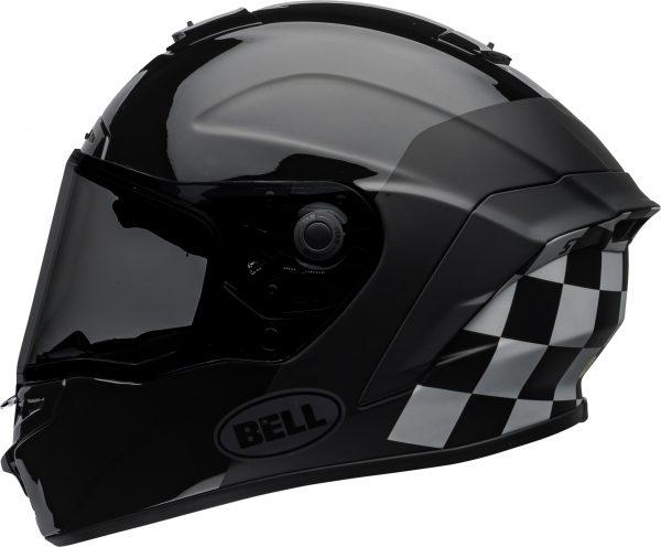 bell-star-dlx-mips-ece-street-helmet-lux-checkers-matte-gloss-black-white-left.jpg-Bell Street 2021 Star DLX MIPS Adult Helmet Helmet (Lux Checkers M/G Black/White)