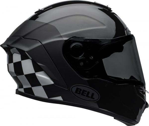 bell-star-dlx-mips-ece-street-helmet-lux-checkers-matte-gloss-black-white-right.jpg-Bell Street 2021 Star DLX MIPS Adult Helmet Helmet (Lux Checkers M/G Black/White)