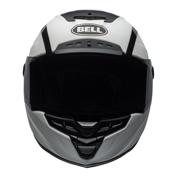 bell-star-dlx-mips-ece-street-helmet-tantrum-matte-gloss-white-black-titanium-front.jpg-Bell Street 2021 Star ?DLX MIPS Adult Helmet (Tantrum M/G White/Black/Titanium)