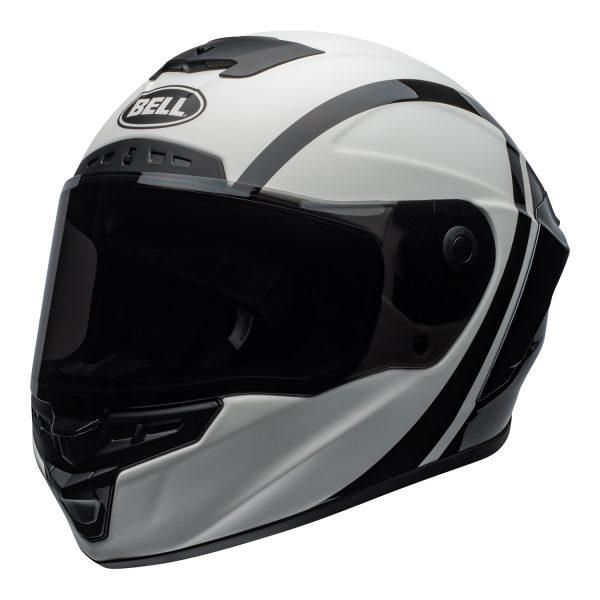 bell-star-dlx-mips-ece-street-helmet-tantrum-matte-gloss-white-black-titanium-front-left.jpg-Bell Street 2021 Star ?DLX MIPS Adult Helmet (Tantrum M/G White/Black/Titanium)