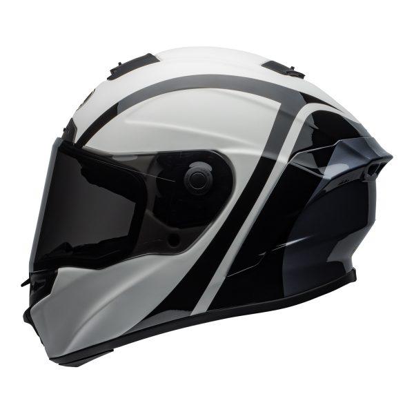 bell-star-dlx-mips-ece-street-helmet-tantrum-matte-gloss-white-black-titanium-left.jpg-Bell Street 2021 Star ?DLX MIPS Adult Helmet (Tantrum M/G White/Black/Titanium)
