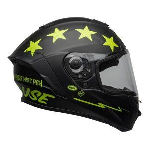 Bell Street 2021 Star DLX MIPS Adult Helmet Helmet (Fasthouse Matte Black/Hi-Viz)