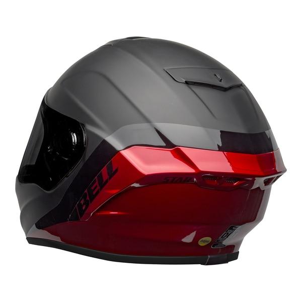 bell-star-dlx-mips-street-helmet-shockwave-matte-gloss-black-candy-red-back-left__40237.1601546495.jpg-Bell Street 2021 Star DLX MIPS Adult Helmet Helmet (Shockwave M/G Black/Candy Red)